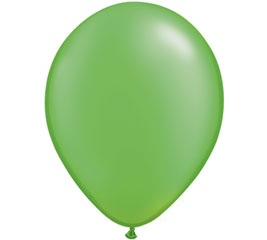 Pearl Lime Green Helium Latex Balloon