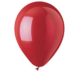 Red Colour Helium Latex Balloon