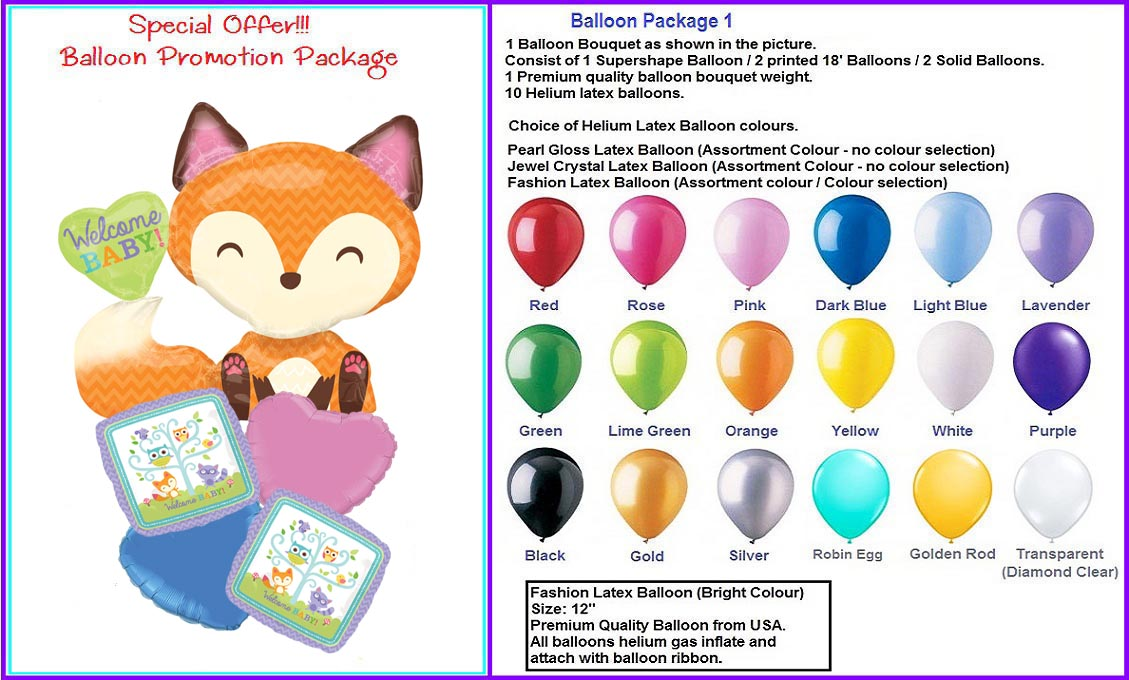 Welcome baby Balloon Package